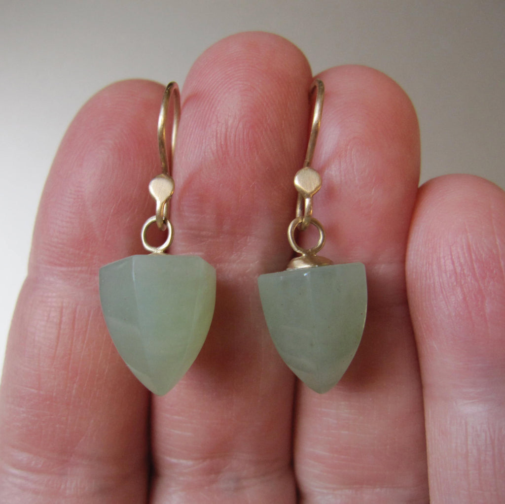 serpentine pointed faceted drops solid 14k gold earrings7