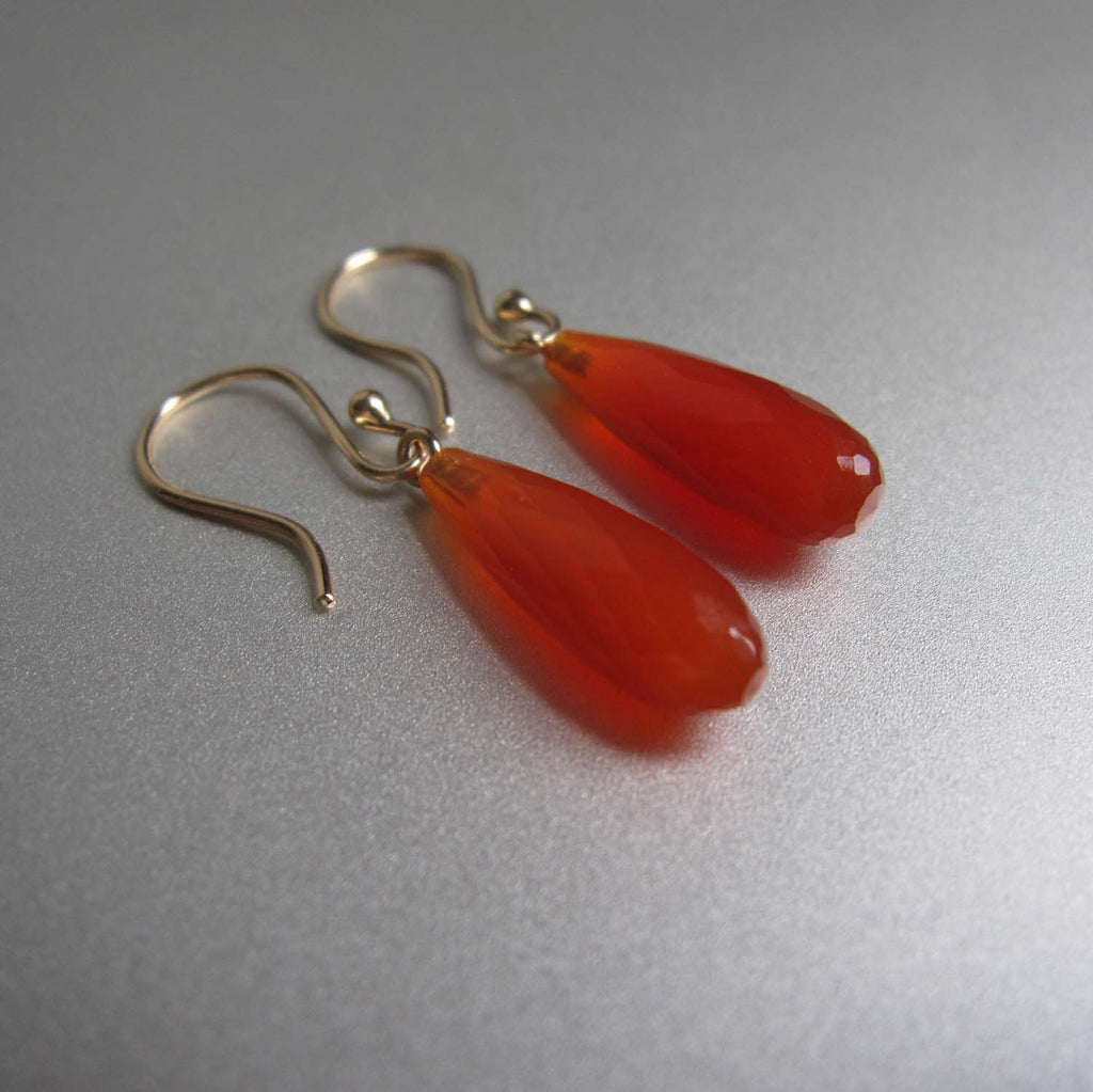 small carnelian faceted drops solid 14k gold earrings3