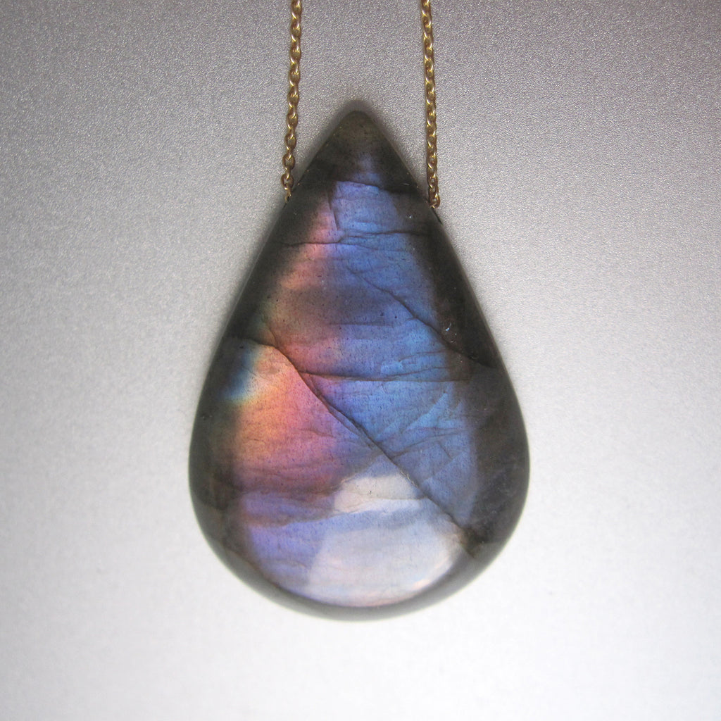 rainbow labradorite drop on 14k gold chain3