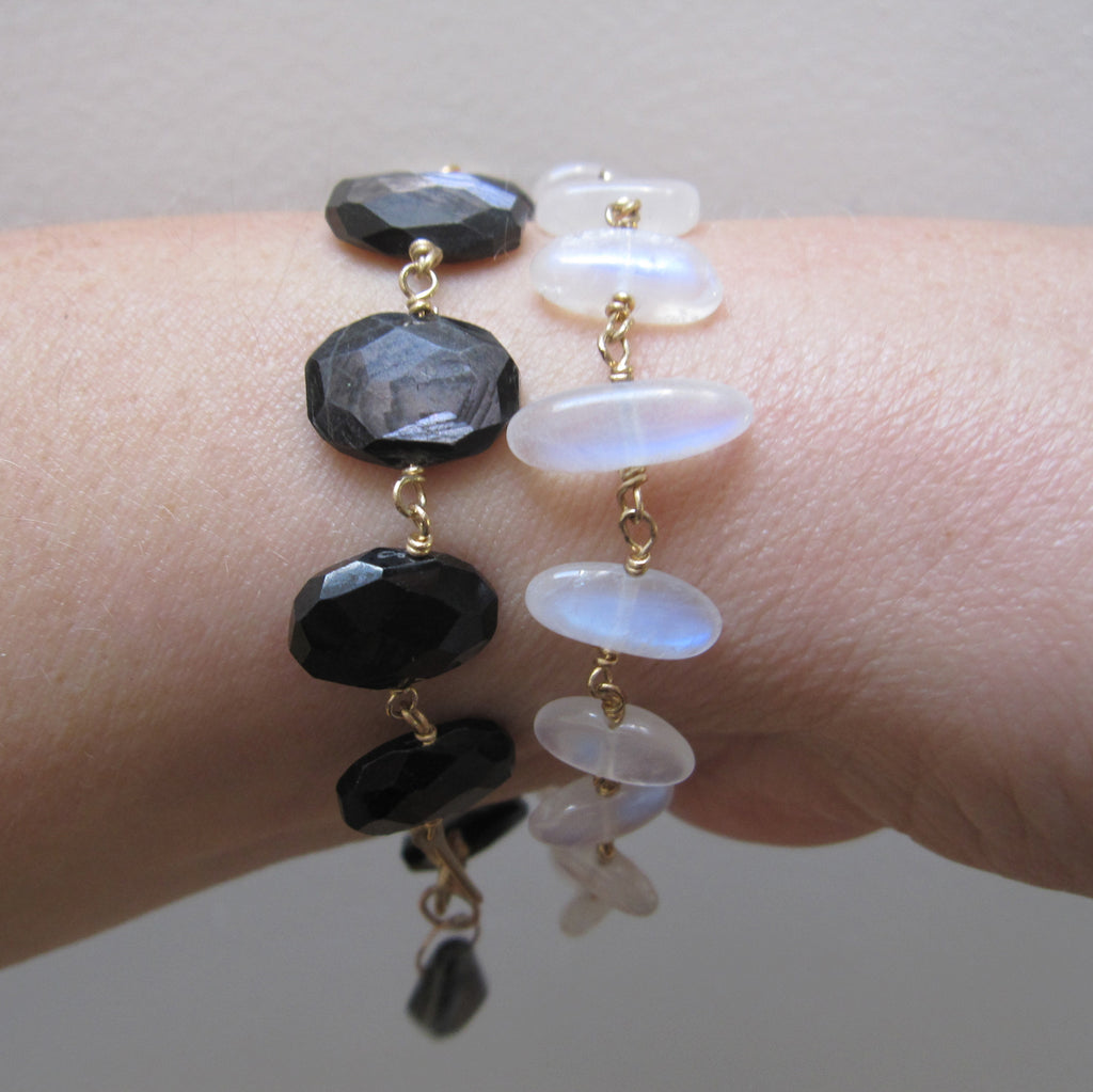 moonstone pebble solid 14k gold bracelet7