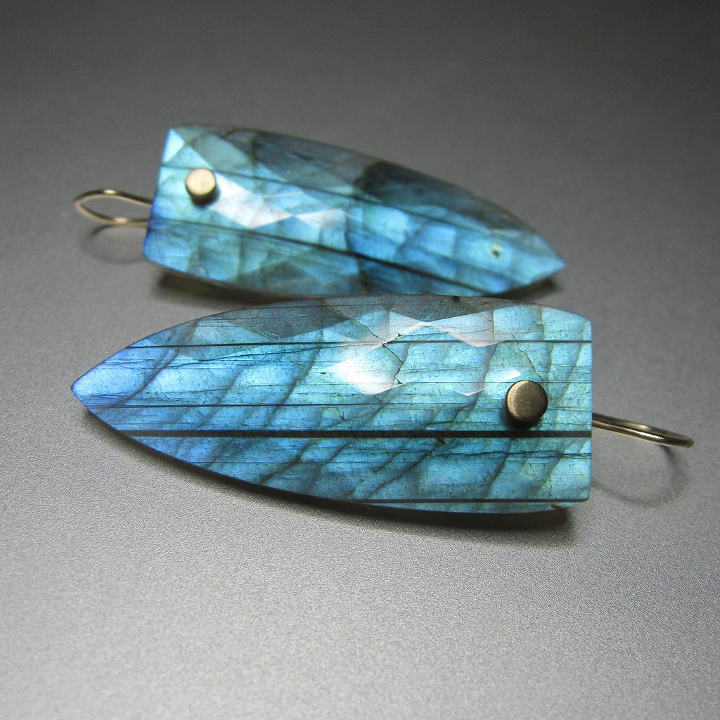 bright blue labradorite faceted pointed drops solid 14k gold earrings3