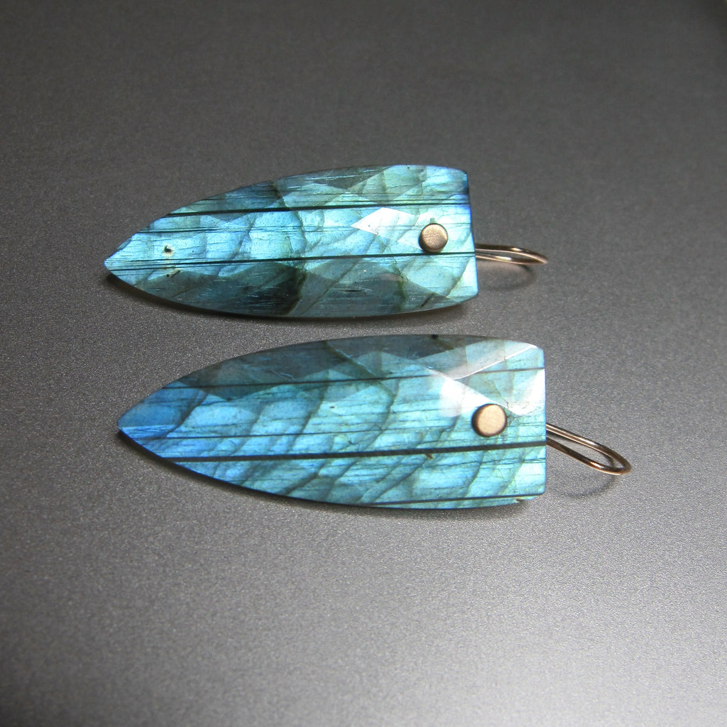 bright blue labradorite faceted pointed drops solid 14k gold earrings4