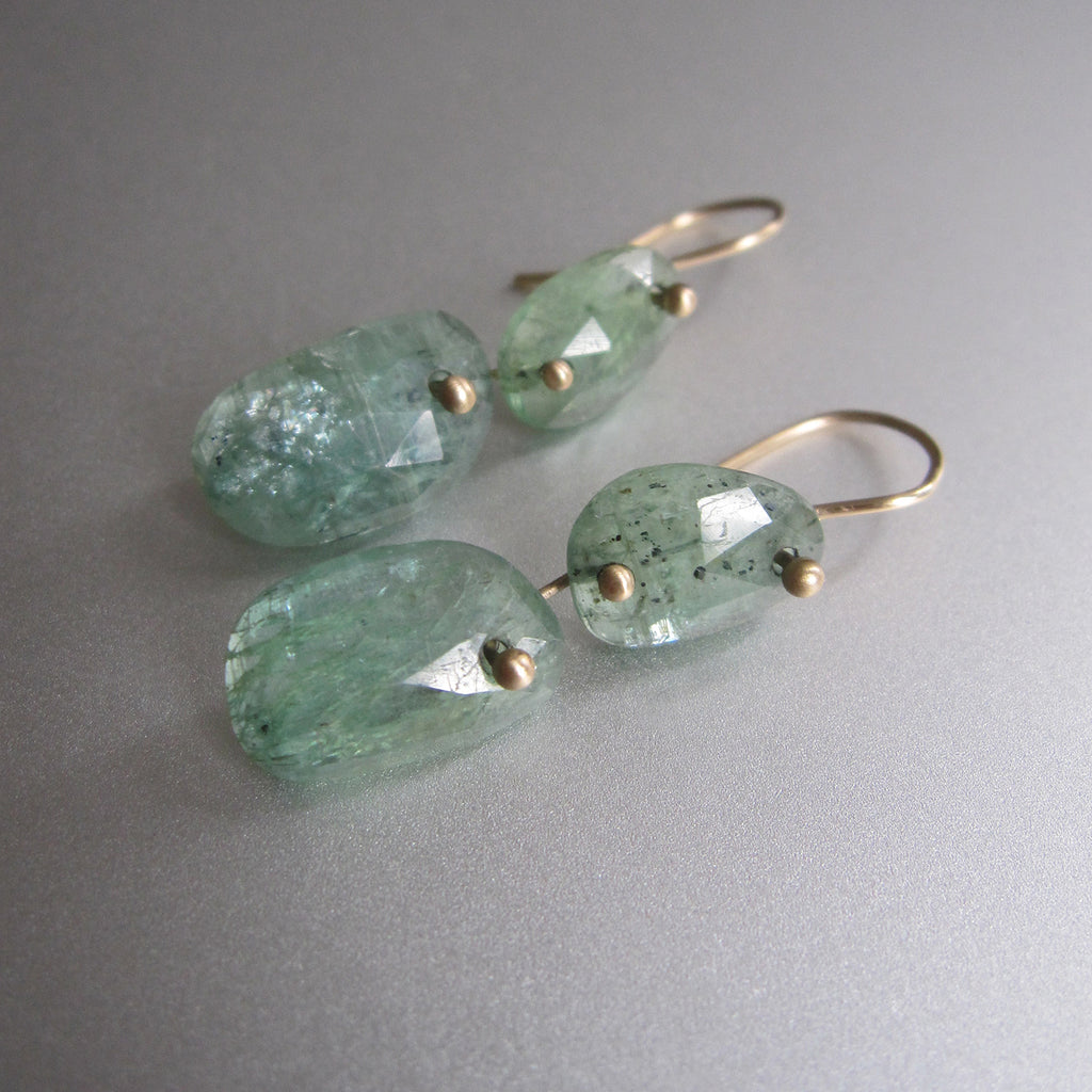 green kyanite double drop solid 14k gold earrings5