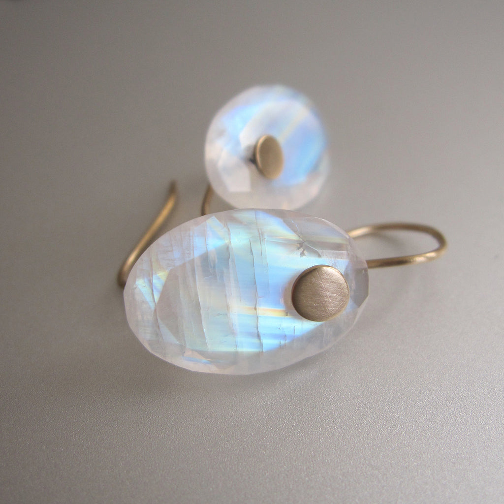 rainbow moonstone edge faceted oval drops solid 14k gold earrings3