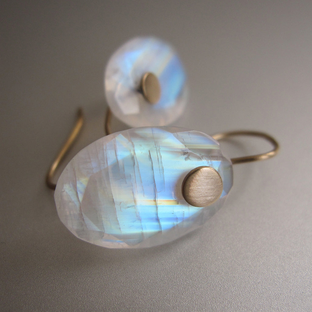 rainbow moonstone edge faceted oval drops solid 14k gold earrings4