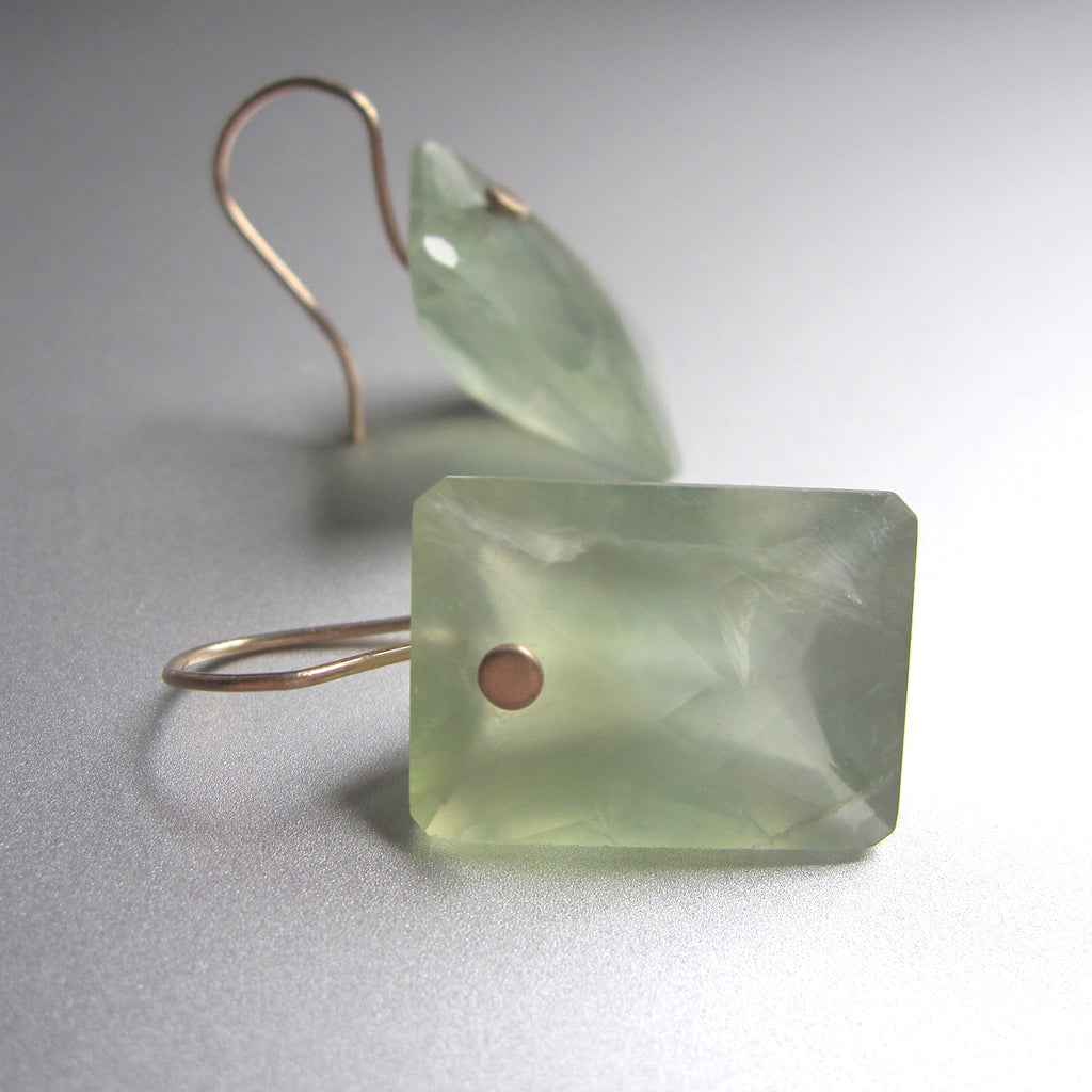 prehnite large ring cut cushion drops solid 14k gold earrings5