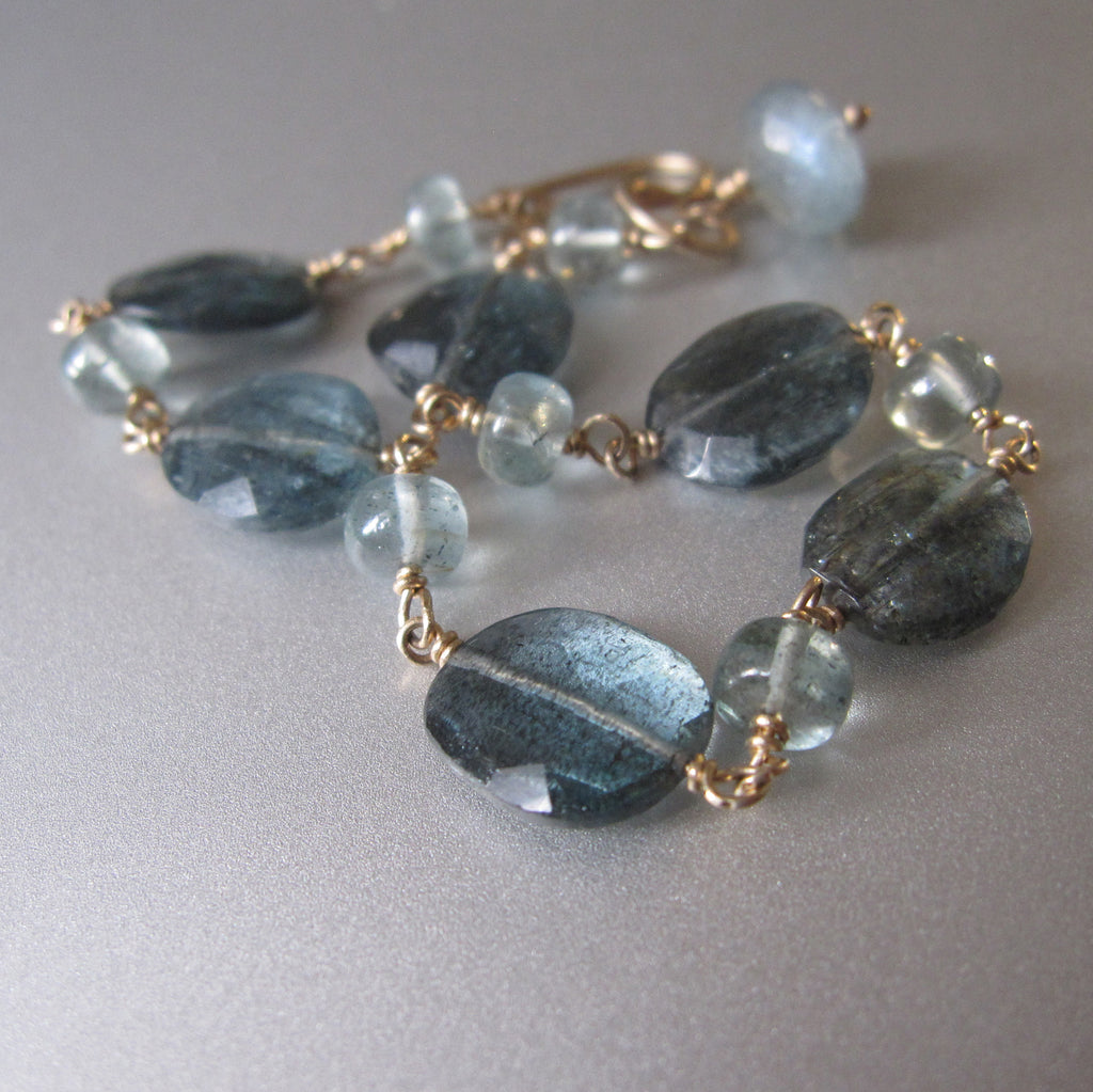 moss aquamarine solid 14k gold beaded bracelet7
