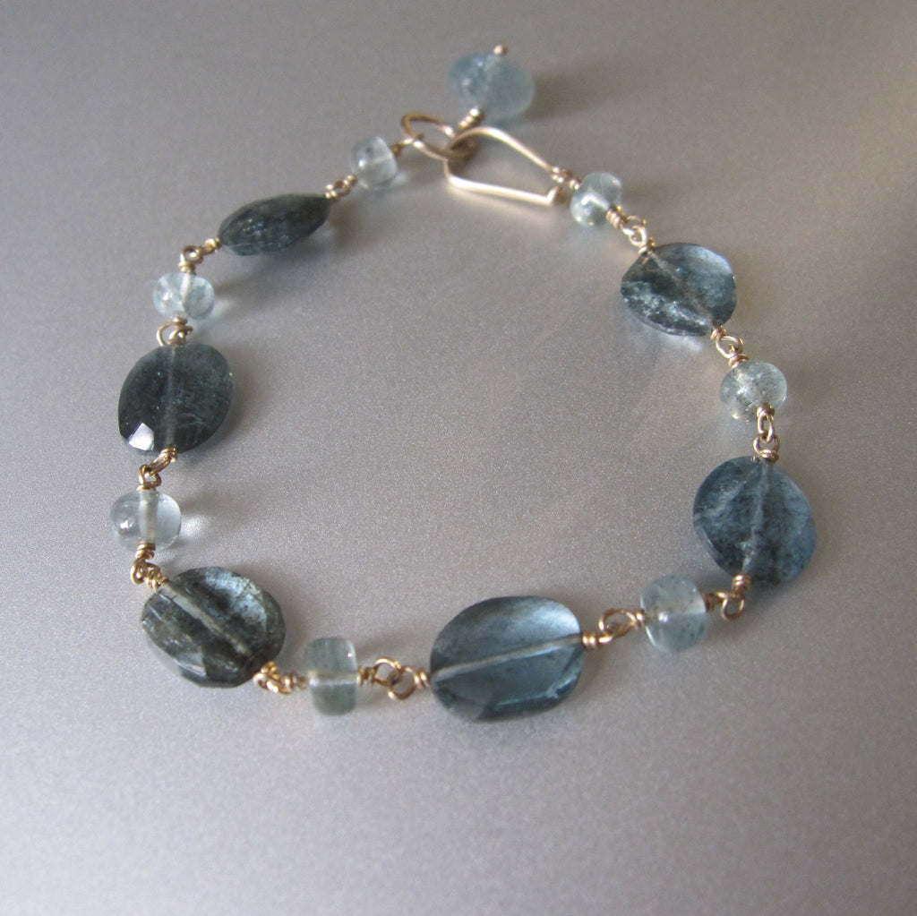 moss aquamarine solid 14k gold beaded bracelet6