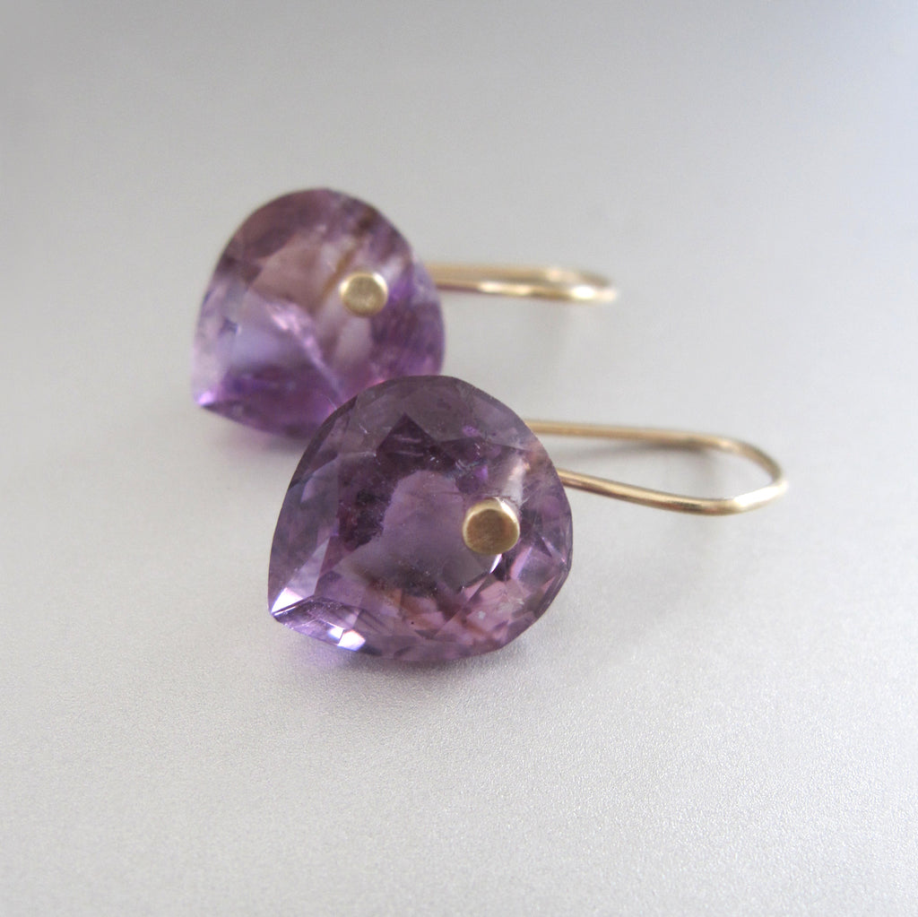 ring cut amethyst heart drops solid 14k gold earrings2