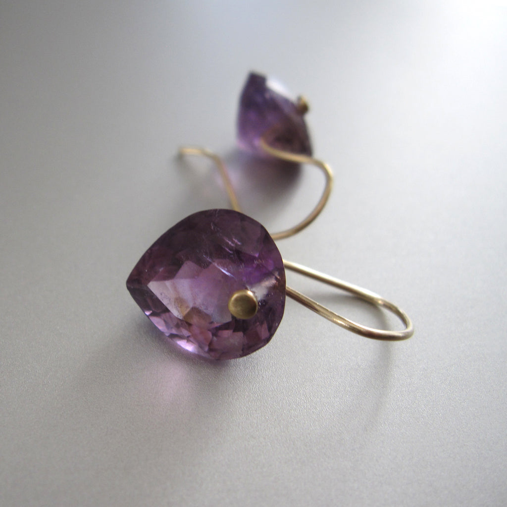 ring cut amethyst heart drops solid 14k gold earrings3