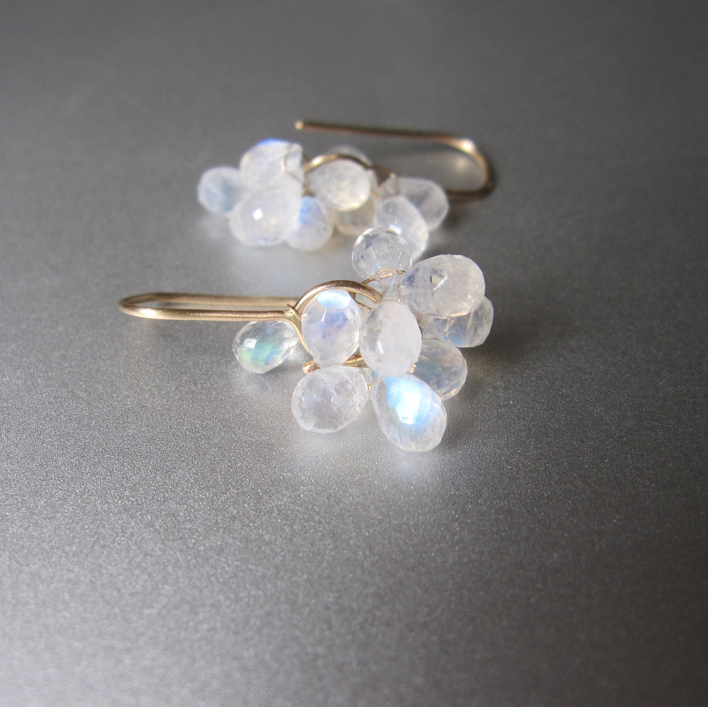 rainbow moonstone briolette clusters solid 14k gold earrings3