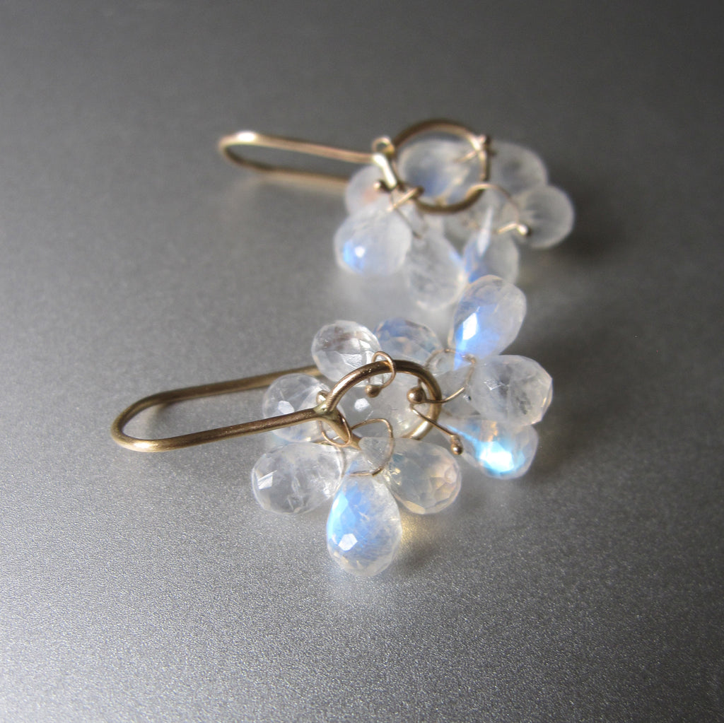 rainbow moonstone briolette clusters solid 14k gold earrings10
