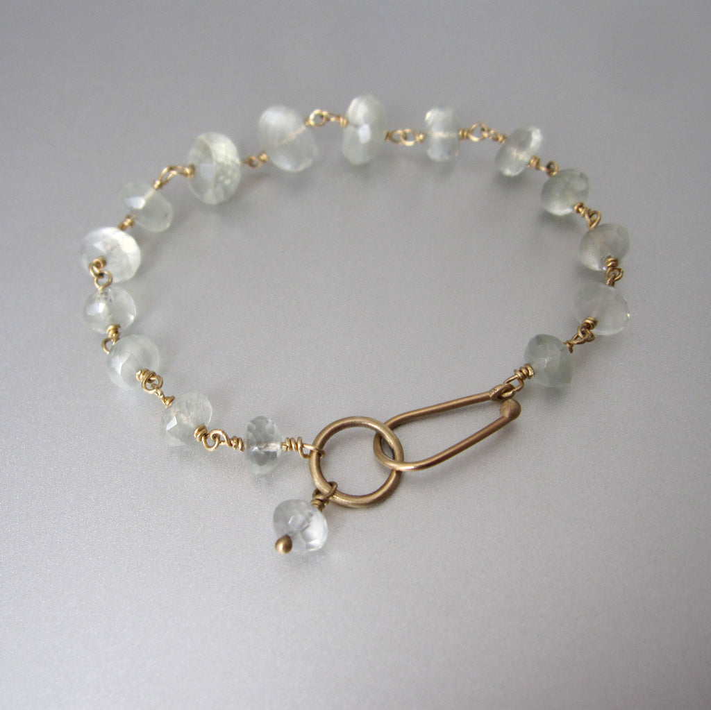 green moonstone wire wrapped solid 14k gold bracelet6