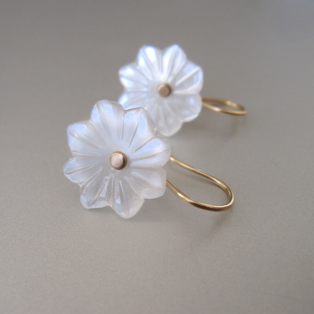 carved white moonstone flower drops solid 14k gold earrings3