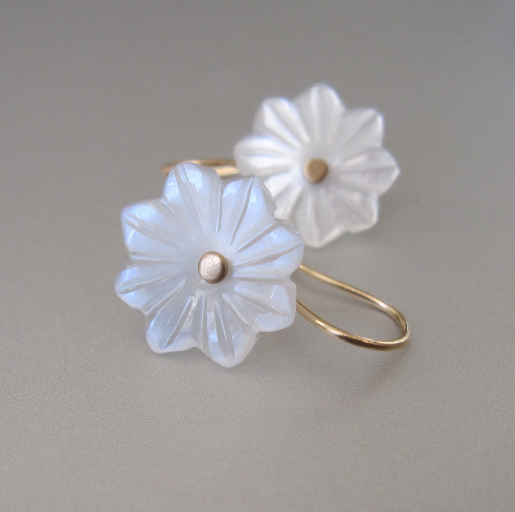 carved white moonstone flower drops solid 14k gold earrings4