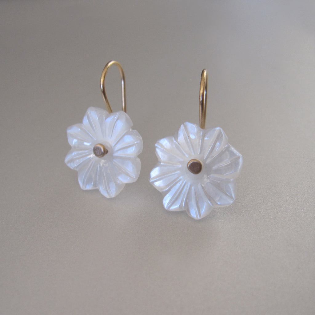 carved white moonstone flower drops solid 14k gold earrings6