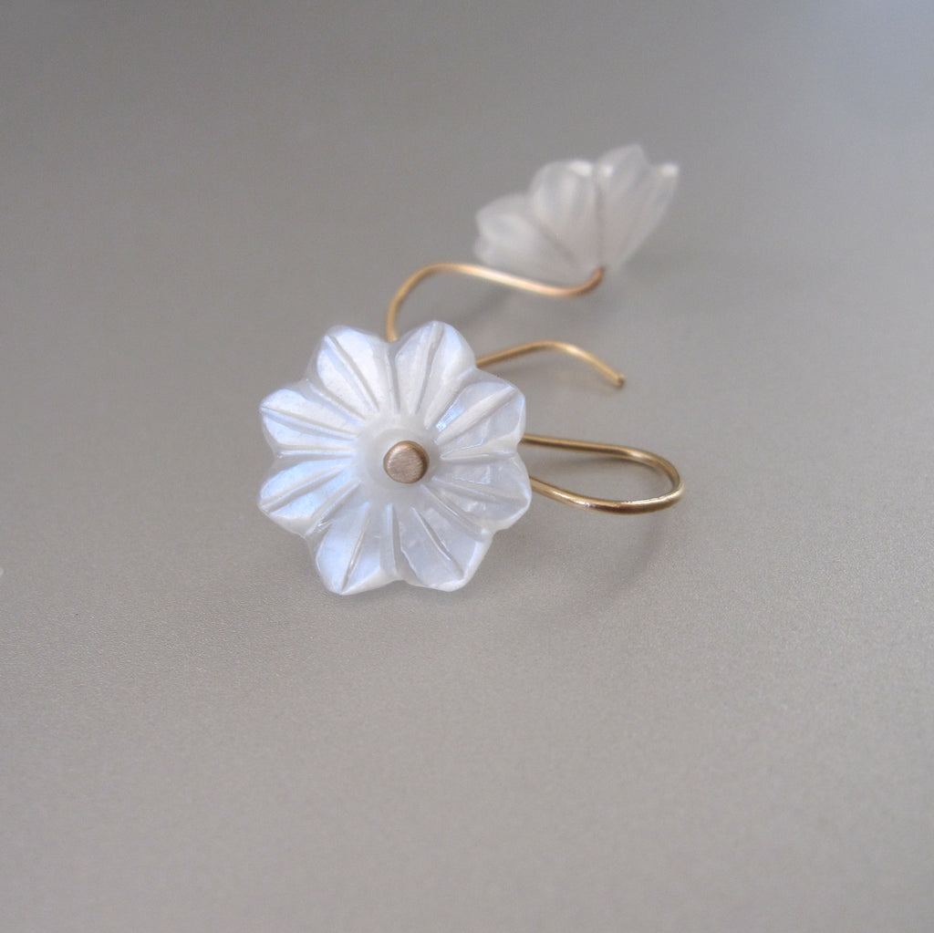 carved white moonstone flower drops solid 14k gold earrings2