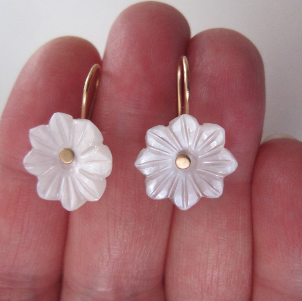carved white moonstone flower drops solid 14k gold earrings7