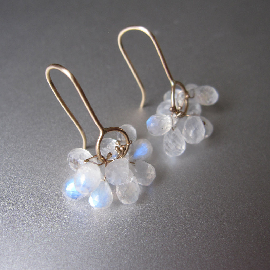 rainbow moonstone briolette clusters solid 14k gold earrings8