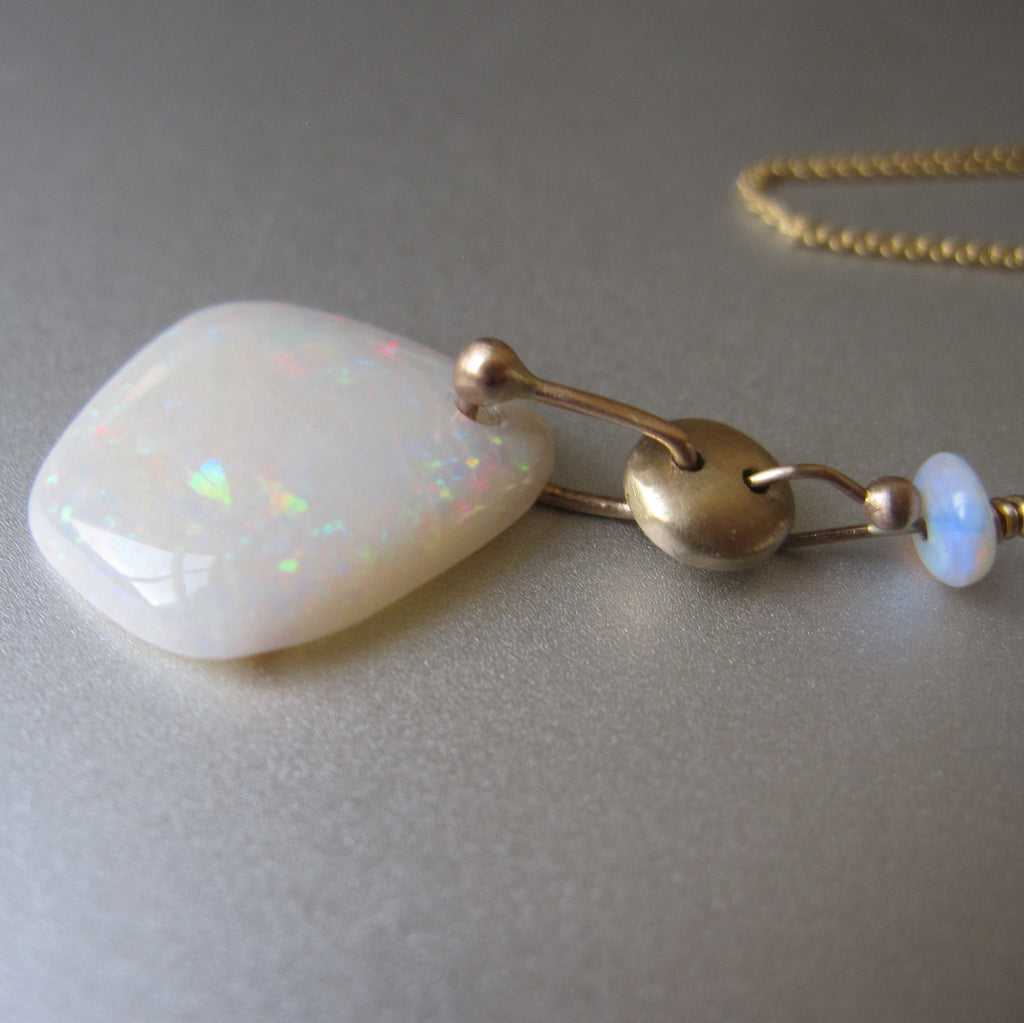 white australian fire opal solid 14k gold necklace7