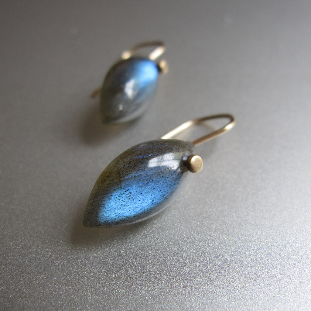 blue labradorite small marquise drops solid 14k gold earrings5