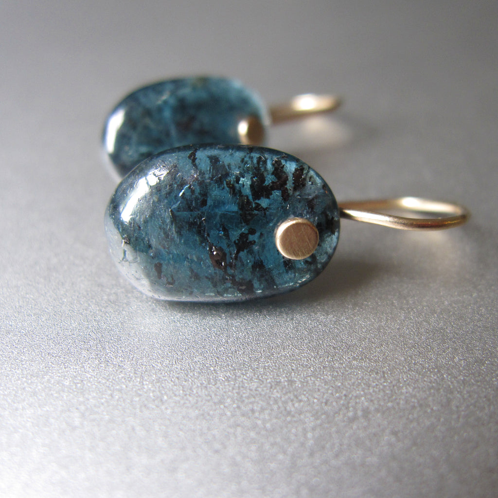mossy teal kyanite oval drops solid 14k gold earrings4