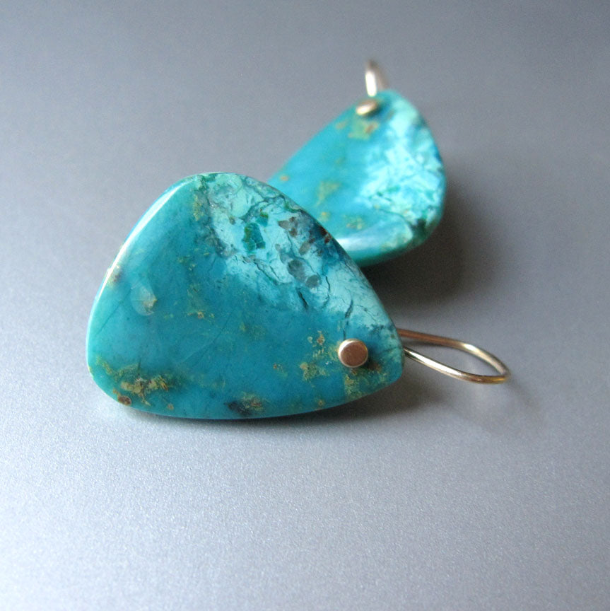 large peruvian blue opal slices solid 14k gold earrings4