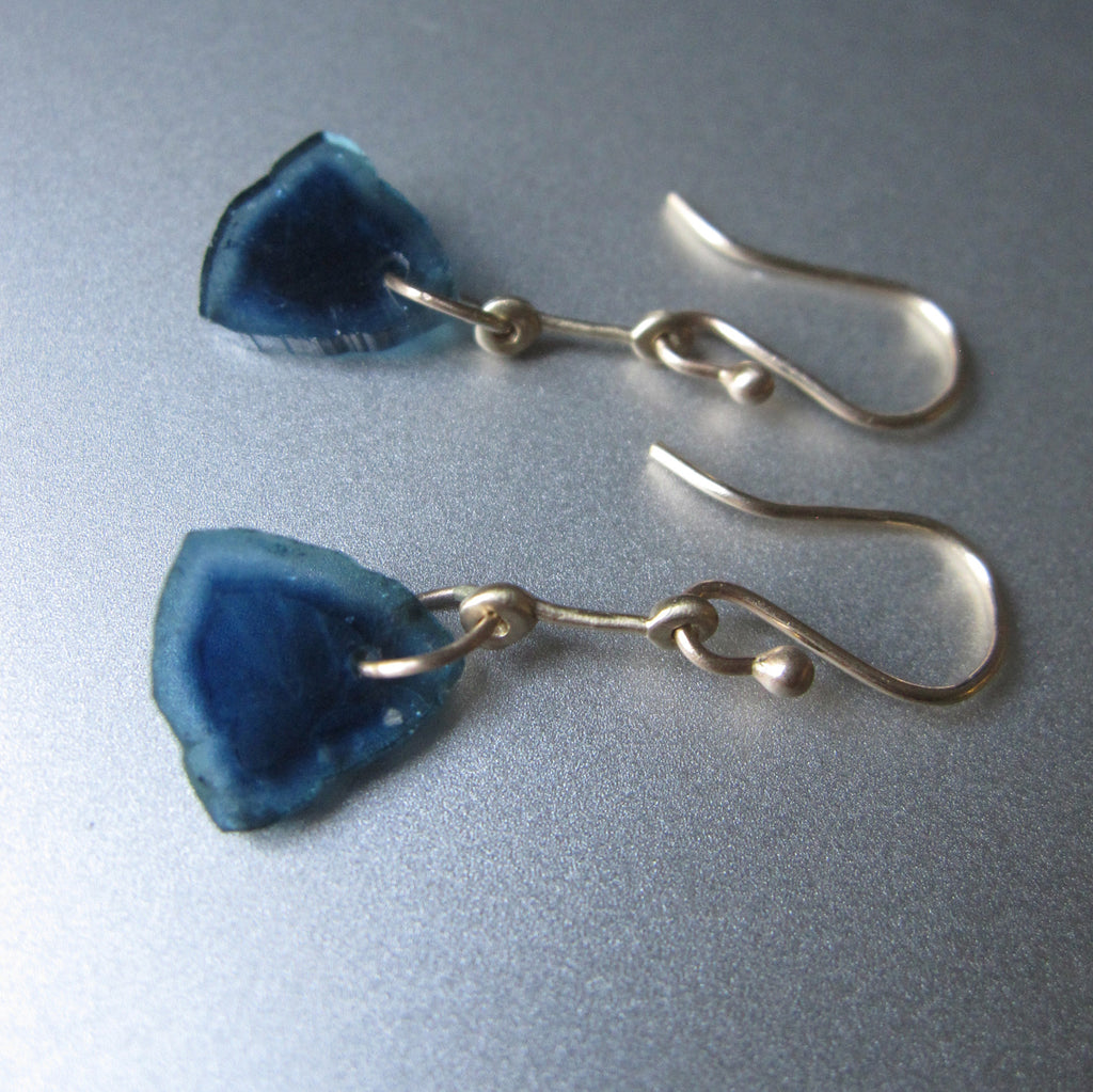 blue tourmaline slices gold rod solid 14k earrings4