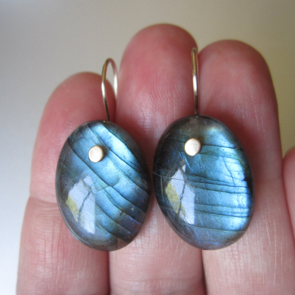 blue labradorite oval drops solid 14k gold earrings5