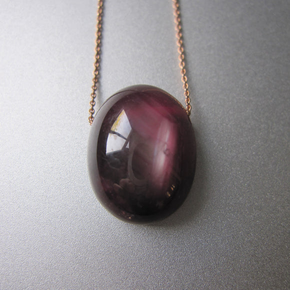 ruby oval pendant solid 14k rose gold necklace