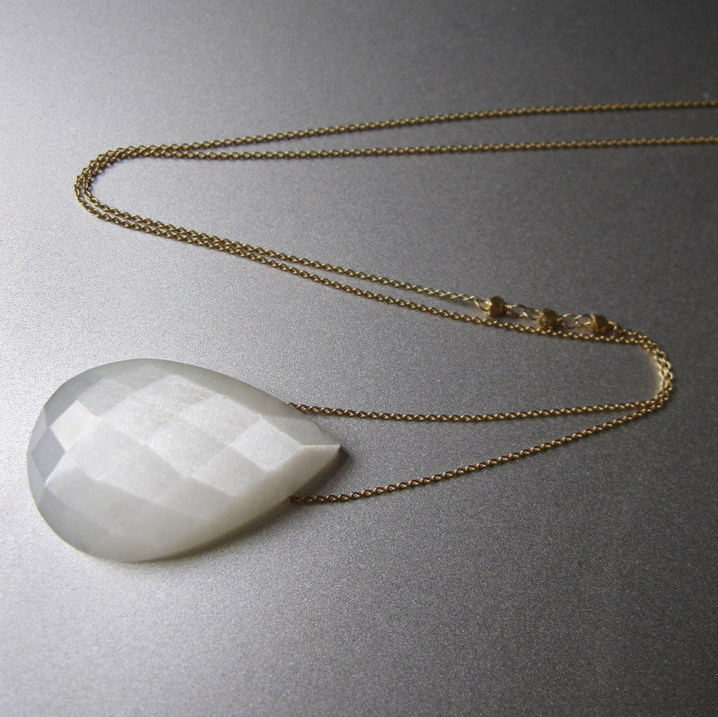 white moonstone drop solid 14k and 18k gold necklace4