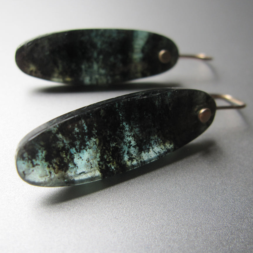 long mossy teal kyanite drops solid 14k gold earrings3