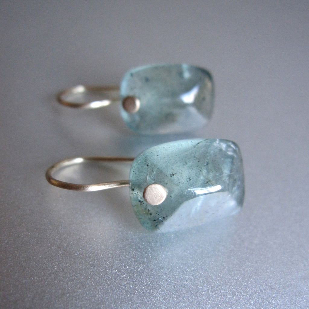 smooth moss aquamarine cushion drops solid 14k gold earrings5