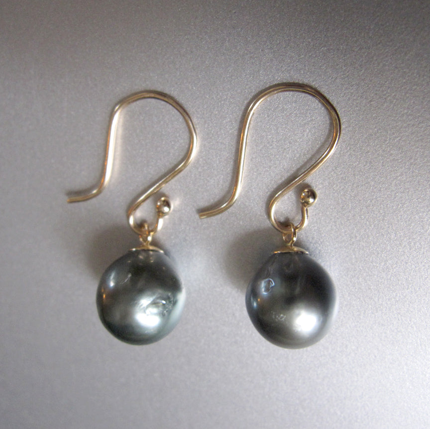 gray tahitian pearl drops solid 14k gold earrings2