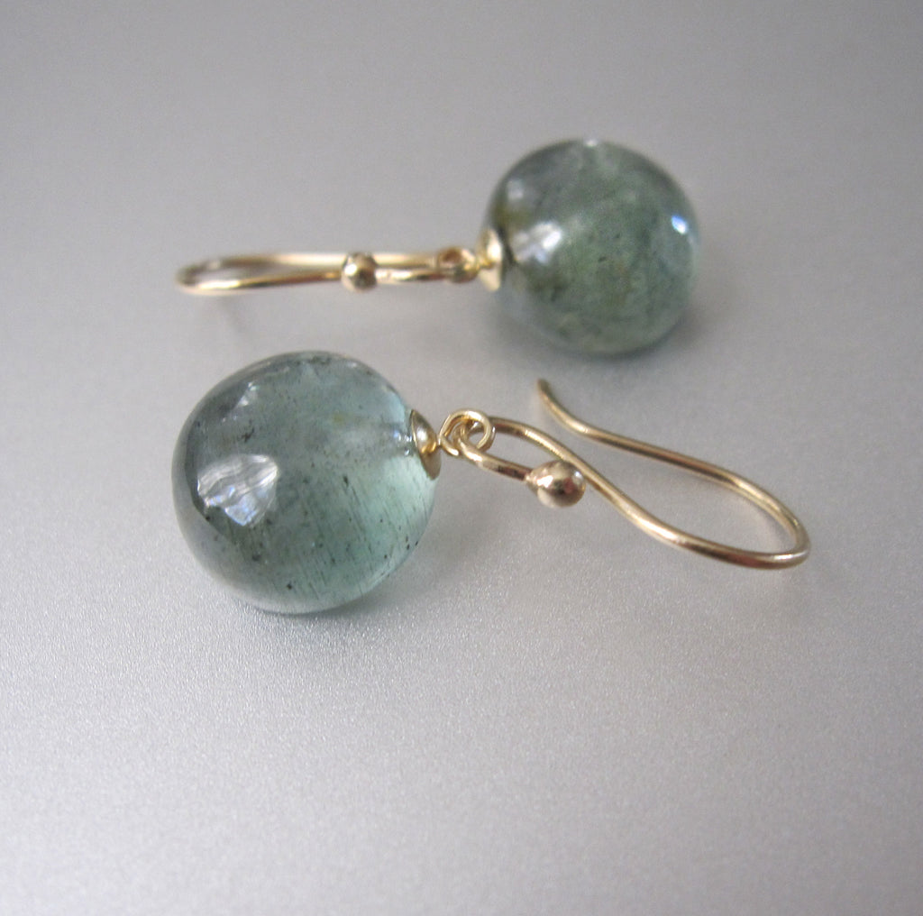 small moss aquamarine button drops solid 14k gold earrings4