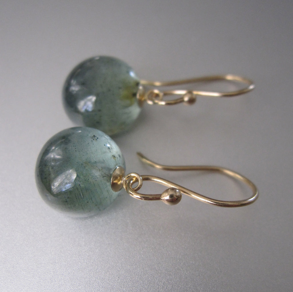 small moss aquamarine button drops solid 14k gold earrings2
