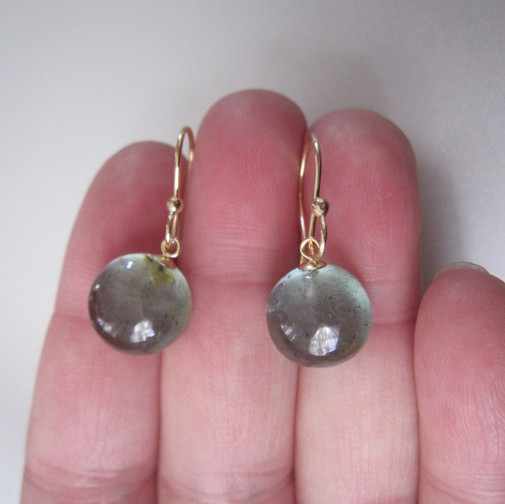 small moss aquamarine button drops solid 14k gold earrings5