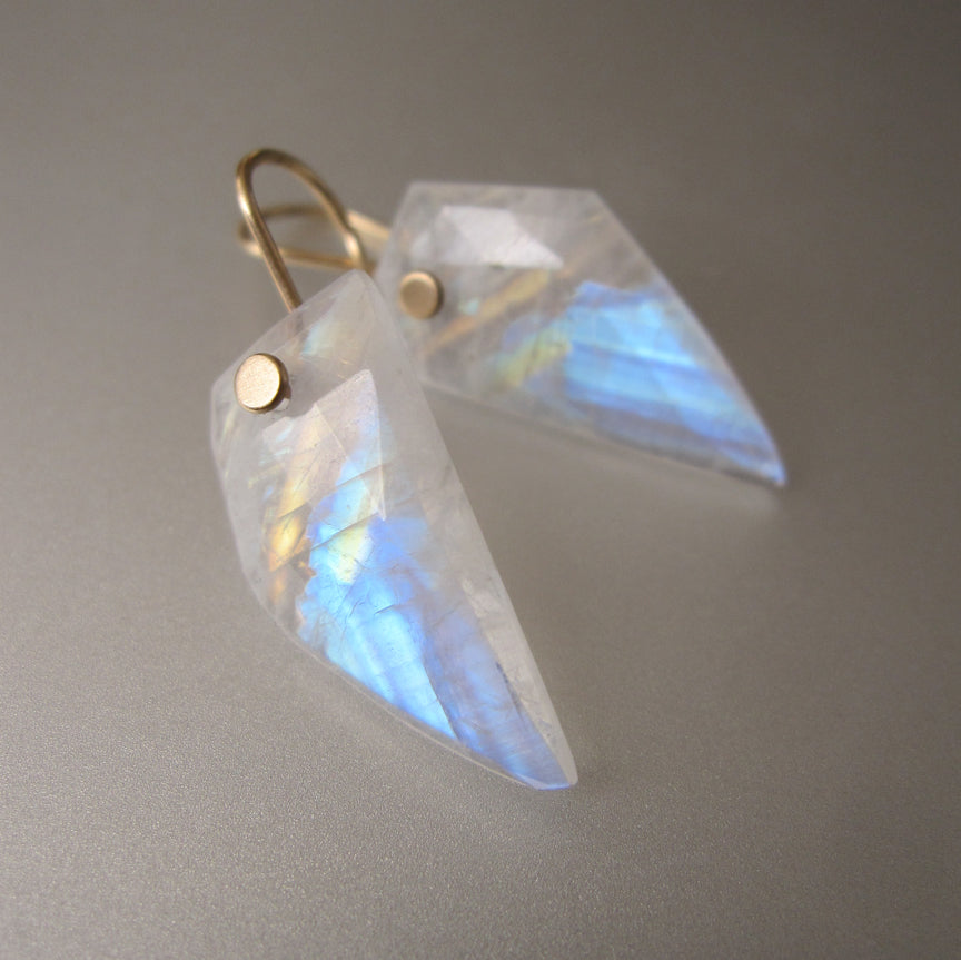 rainbow moonstone angular wing slices solid 14k gold earrings3