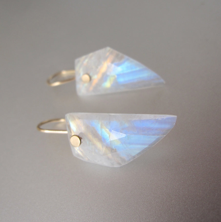 rainbow moonstone angular wing slices solid 14k gold earrings5