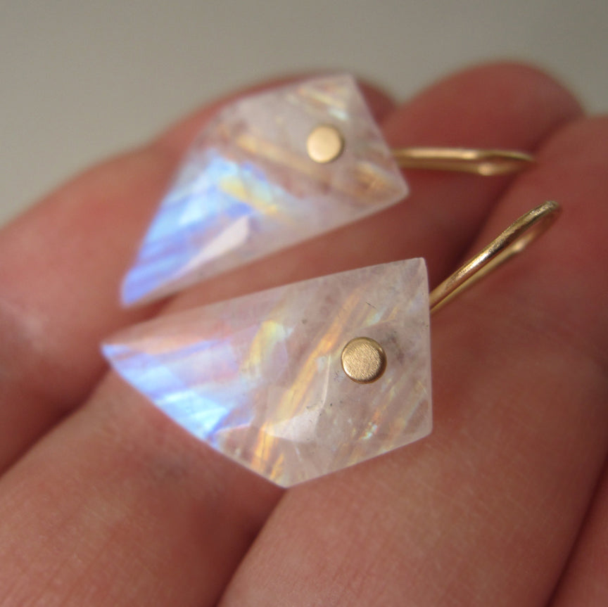 rainbow moonstone angular wing slices solid 14k gold earrings4