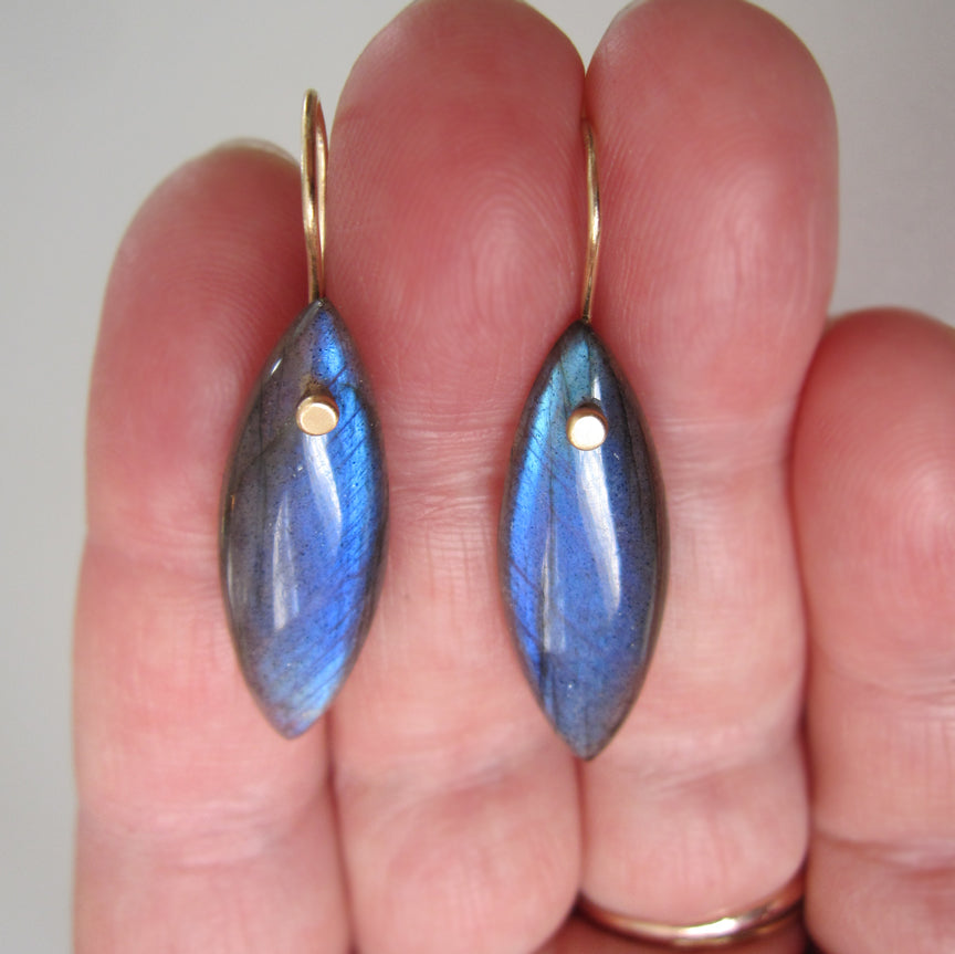 Long marquise shaped blue labradorite drops solid 14k gold earrings2