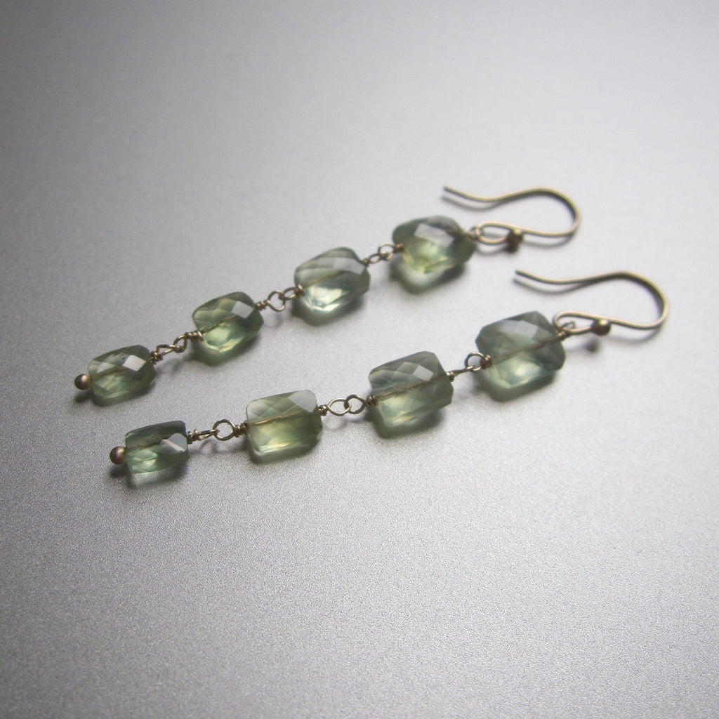 four cushion prehnite drops solid 14k gold earrings3