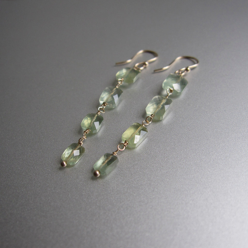 four cushion prehnite drops solid 14k gold earrings2