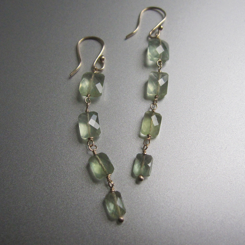four cushion prehnite drops solid 14k gold earrings6