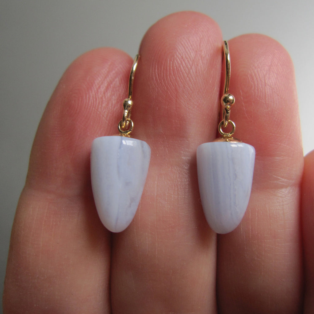 blue lace agate bullet drops solid 14k gold earrings5