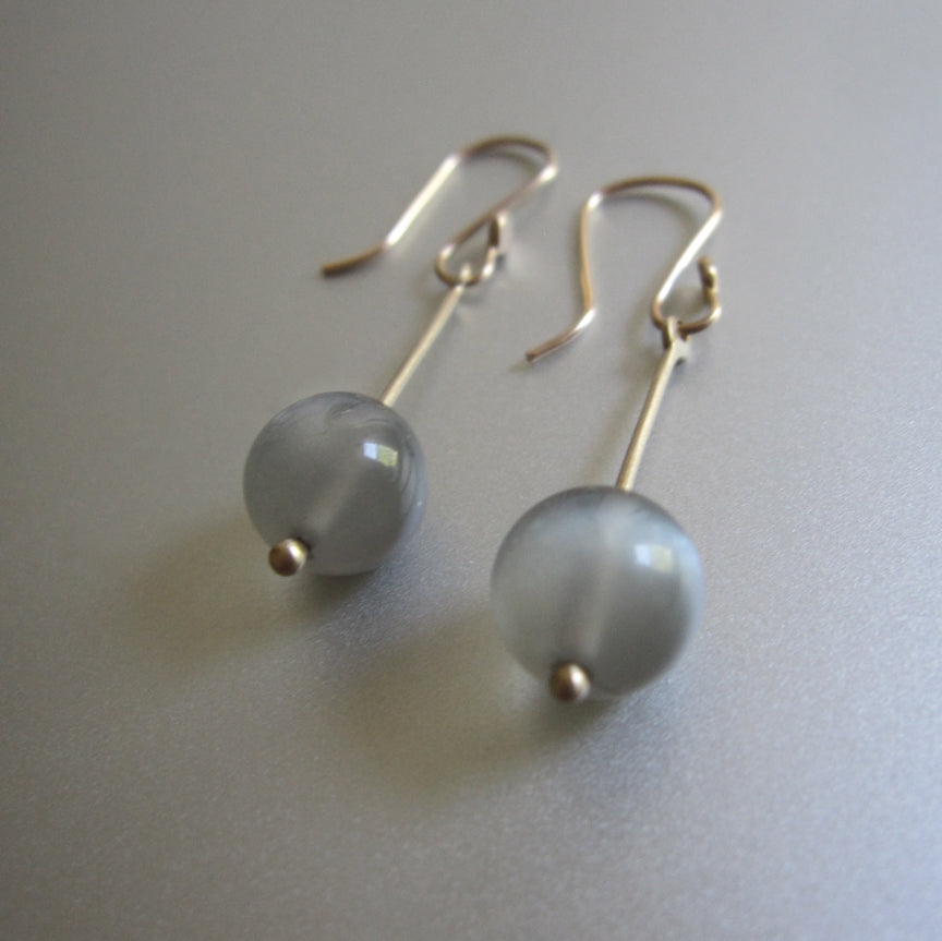 long gold rod and gray moonstone marble solid 14k gold earrings4