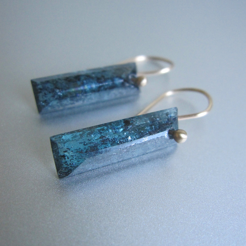 teal moss kyanite faceted bars solid 14k gold earrings2