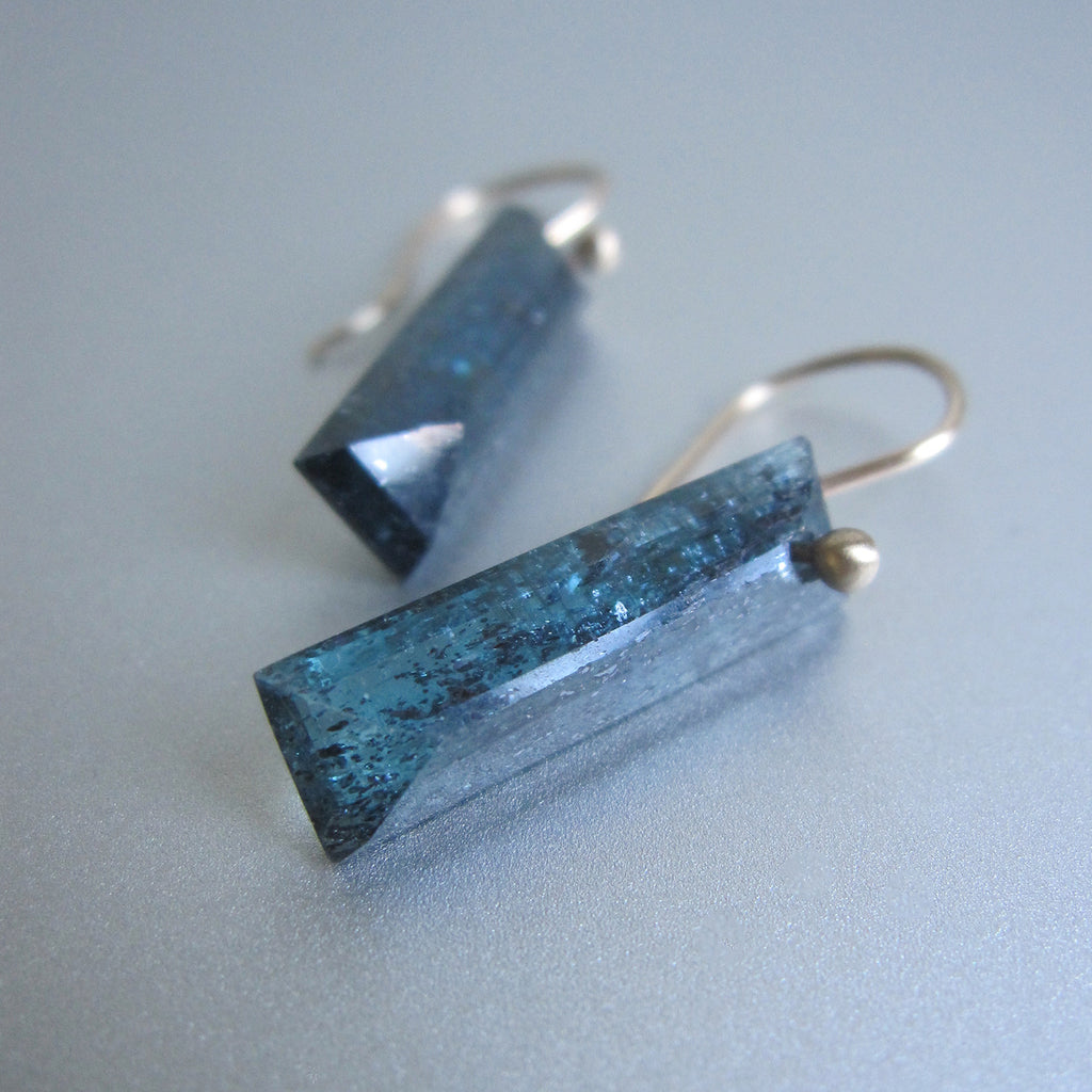 teal moss kyanite faceted bars solid 14k gold earrings3