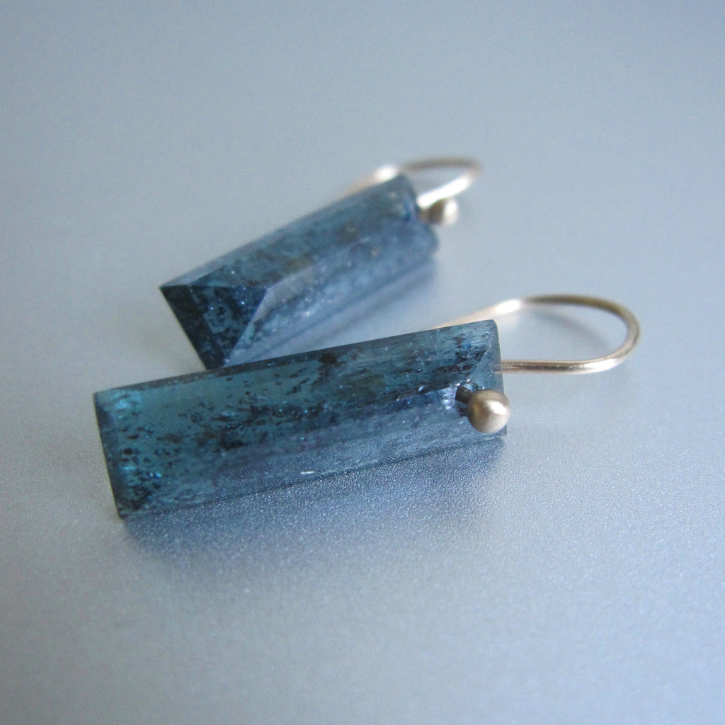teal moss kyanite faceted bars solid 14k gold earrings6
