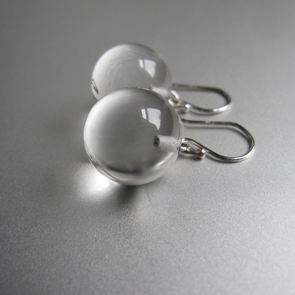 pools of light quartz marble drops sterling silver earrings
